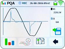 Netzanalyse Scopefunktion Spannung und Strom
